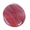 Glass Pressed Beads 8mm Flat Round Red/Brown